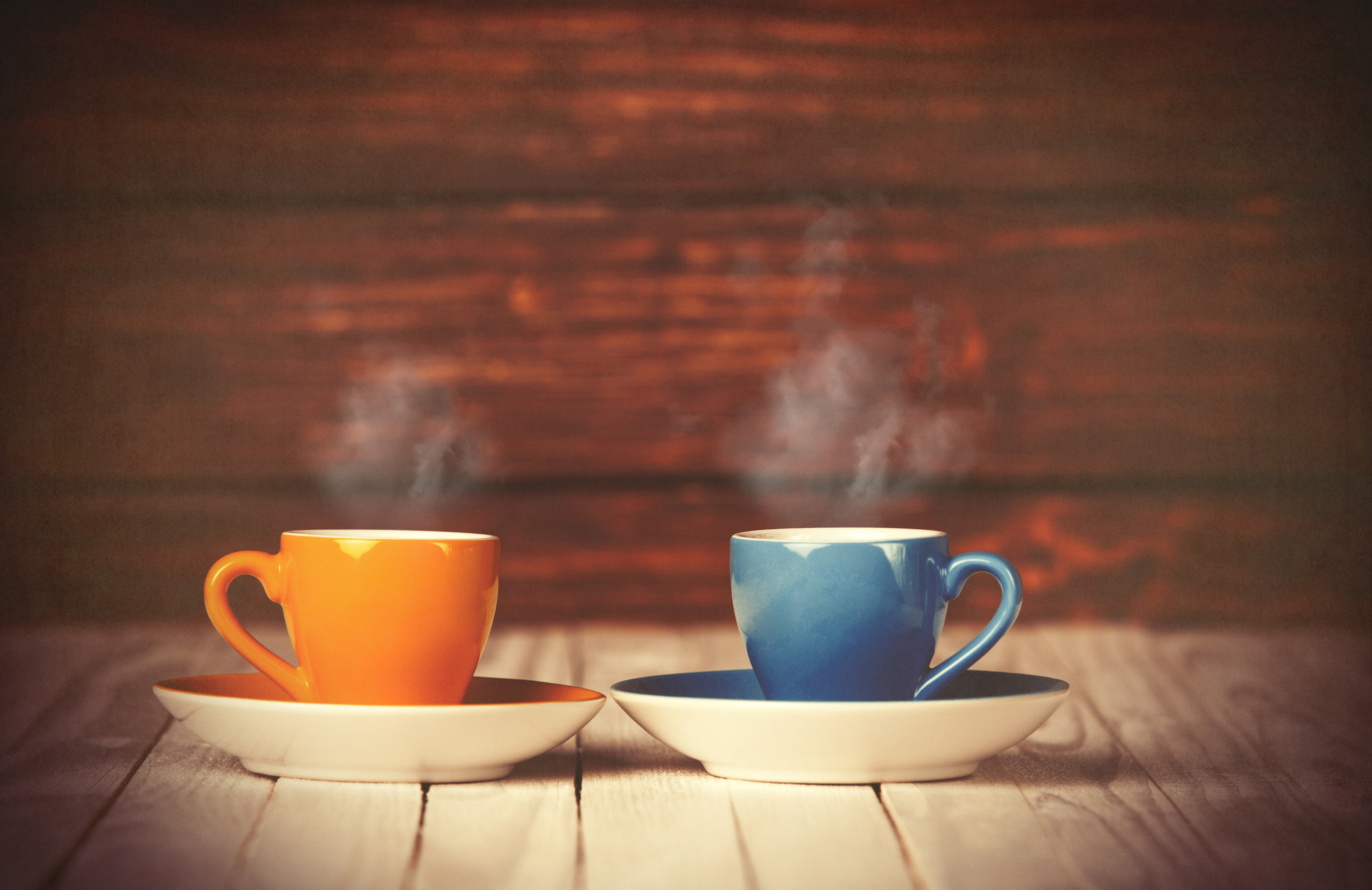 Two coffee cups - orange and blue (DiscipleSips FB page) 4-10-17